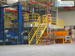 Cubic Designs pre-engineered steel mezzanines and work platforms make it easy and cost effective to integrate a single or multi-level platform into your valuable project, without the cost and disruption of construction.