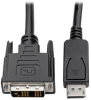 DisplayPort to DVI-D Adapter Cable – M/M, DP with Latches, 1920 x 1200 (1080p) @ 60 Hz, 3 ft. -- P581-003 - Image