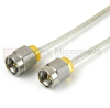 SMA Male to SMA Male Cable RG405 Type .086 Coax in 3 Inch and RoHS -- SCA45086-03 -Image