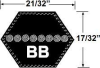 BB81 Double Angled Hex Belt