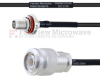 SMA Female Bulkhead to TNC Male MIL-DTL-17 Cable M17/119-RG174 Coax in 30 Inch -- FMHR0113-30 -- View Larger Image