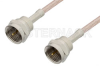 75 Ohm F Male to 75 Ohm F Male Cable 60 Inch Length Using 75 Ohm RG179 Coax, RoHS -- PE36137LF-60 -Image