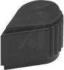 Knob, Control Style, 0.125 Inch Dia. Shaft, Metal Insert w/Set Screws, Blk -- 70216910 - Image