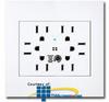 Leviton Acenti Sixplex Receptacle with Surge Protection -- ACSR6 -- View Larger Image