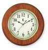 Quartz Clock,Round,Oak -- 1TKA3