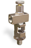 "Angle Heavy Duty Sight Feed Valve, 3/8"" Female NPT Inlet, 3/8"" Male NPT Outlet, Handwheel -- B1284-2 -Image"