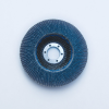 3M 546D Type 27 Coated Alumina Zirconia Flap Disc - 120 Grit - 4 1/2 in Diameter - 28666 -- 051141-28666 - Image