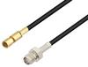 SMA Female to SSMC Plug Low Loss Cable 60 Inch Length Using LMR-100 Coax -- PE3C4426-60 -Image