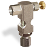 "(Formerly B1630-5X00), Inverted Angle Small Sight Feed Valve, 1/8"" Female NPT Inlet, 1/4"" OD Tube Outlet, Handwheel -- B1628-315B1HW -Image"