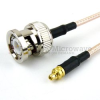 BNC Male to MMCX Plug Cable RG-316 Coax in 6 Inch -- FMC0809315-06 -Image