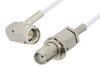 SMA Male Right Angle to SMA Female Bulkhead Cable 72 Inch Length Using RG196 Coax, RoHS -- PE34141LF-72 -Image
