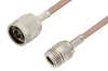 N Male to N Female Cable 48 Inch Length Using RG400 Coax -- PE3617-48 -Image