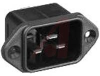 AC Male Power Inlet Connector,Flange,120/250VAC,20A(UL/CSA),16A(VDE),UL94V-0 -- 70185991 - Image