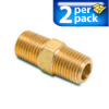 Connector Air Fitting: male, brass, for 1/2in NPT to 1/2in NPT, 2/pk -- BFMC-12N -- View Larger Image