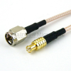 SMA Male to MCX Plug Cable RG-316 Coax in 48 Inch and RoHS Compliant -- FMC0207315LF-48 -Image