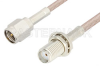 SMA Male to SMA Female Bulkhead Cable 48 Inch Length Using 75 Ohm RG179 Coax, RoHS -- PE3967LF-48 -Image