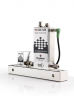 miniCORI-FLOW™ Coriolis Mass Flow Meters driving low-flow pump -- Series M10+Pump