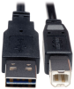 Universal Reversible USB 2.0 Hi-Speed Cable (Reversible A to B M/M), 1-ft. -- UR022-001