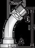 S146H – Code 62 Flange ORFS Male 45º Tube Bend -Image