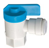 Quick-Connect Female Angle Valve - Polypropylene -- 1053B - Image