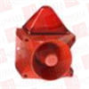 PFANNENBERG 23372105000 ( 15 JOULES FLASHING STROBE BEACON WITH 80 TONE, 4-STAGE SOUNDER, 120 DB (A), 187 - 255 VAC, RED HOUSING, RED LENS ) -- View Larger Image