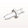 Bayonet Male Connector, Barbed, White -- BC530 -Image