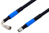 1.85mm Male to 1.85mm Male Right Angle Precision Cable 48 Inch Length Using High Flex VNA Test Coax -- PE3TC1000-48 -Image