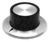 STRAIGHT KNURLED SKIRT KNOB, 6.35MM -- 57F2363