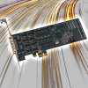 PCI Express Eight-port RS-422 Serial Card with 3' DB9M Breakout Cable -- PCIe-COM422-8