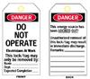 Heavy Duty Laminated Lockout Tags (B-837; English; Heavy Duty Polyester; 5 1/2