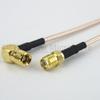SMA Female to RA SMB Plug Cable RG316 Coax in 72 Inch -- FMC1326316-72 -Image