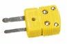 Digi-Sense Type J Thermocouple Miniconnector; jack connection, black, 10/pack -- GO-93840-51