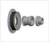 BoWex-ELASTIC® Highly Flexible Curved-Tooth Gear Flange Coupling -- HE-ZS/HEW-ZS