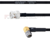 BNC Male to RA SMA Male MIL-DTL-17 Cable M17/84-RG223 Coax in 12 Inch -- FMHR0034-12 -Image