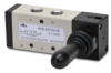VALVE 1/4in NPT Cv=1.39 TOGGLE STYLE ACTUATOR 5-PORT 2-POS -- AVS-537D2-HL - Image