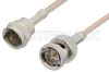 75 Ohm F Male to 75 Ohm BNC Male Cable 60 Inch Length Using 75 Ohm RG179 Coax, RoHS -- PE36153LF-60 -Image