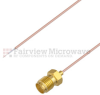 Test Probe Pigtail SMA Female to Stripped Lead Cable .034 Coax in 6 Inch and RoHS Compliant -- FMCA1185-6 -Image