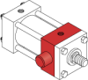 Series A Pneumatic Cylinder - Model A71 NFPA Style MT1 -- Rod End Trunnion Mount - Image
