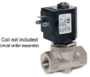 "SS 2-WAY NC PILOT OPERATED 1/4"" NPTF SOLENOID VALVE-LESS COIL -- D264DBUN"