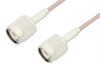 TNC Male to TNC Male Cable 12 Inch Length Using RG316 Coax, RoHS -- PE3747LF-12 -Image