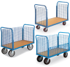 EUROKRAFT Premium Platform Trucks with Wire Side Panels -- 7023001