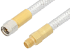 SMA Male to SMA Female Cable 24 Inch Length Using PE-SR401FL Coax, RoHS -- PE34233LF-24 -Image