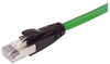 Plenum Rated Shielded Category 6a Cable, RJ45/RJ45, 23AWG Solid, Green, 50.0ft -- TAA00008-50F -Image