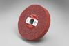 3M Scotch-Brite MF-WL Convolute Aluminum Oxide Medium Deburring Wheel - Coarse Grade - Arbor Attachment - 6 in Diameter - 1 in Center Hole - Thickness 1/2 in - 05394 -- 048011-05394 - Image