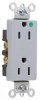 Duplex/Single Receptacle -- 26262-HGGRY -- View Larger Image