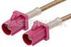 Violet FAKRA Plug to FAKRA Plug Cable 36 Inch Length Using RG316 Coax -- PE38755H-36 -Image