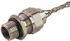 """Cord Connector, SS, 1-1/4"""" NPT, cable range .875 - 1.00 with mesh -- RSSS-416-E"""