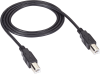 USB 2.0 Cable Type B Male to Type B Male Black 16-ft. -- USB08-0016 -- View Larger Image