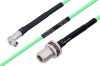 Temperature Conditioned SMA Male Right Angle to N Female Bulkhead Low Loss Cable 24 Inch Length Using PE-P142LL Coax -- PE3M0157-24 -Image