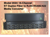 16-Channel ST Fiber to RJ45 RS485/422 Media Converter -- Model 9504